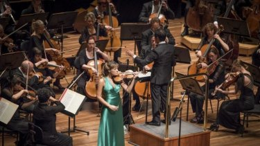 Demanding music: Diego Matheuz conducts the Melbourne Symphony Orchestra, with Scottish soloist Nicola Benedetti.