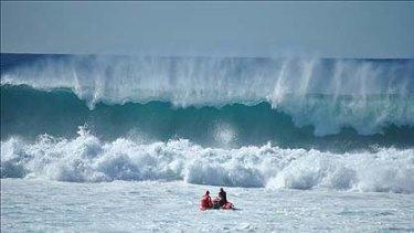 Huge surf at Bondi on Saturday.