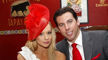 Old times … Grant Hackett and his ex, Candice Alley.