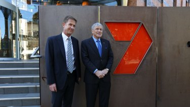 Seven West Media CEO Tim Warner and chairman Kerry Stokes.