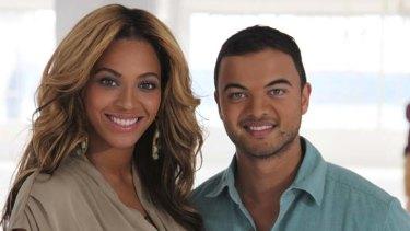Mentoring mates ... Beyonce Knowles and Guy Sebastian.