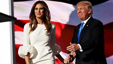 Melania and Donald Trump at the Republican National Convention.
