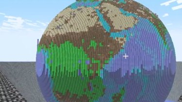 The entire Earth recreated in Minecraft.