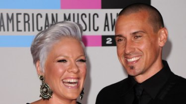 """""""No-brainer"""" ... Pink and Carey Hart reveal the name they would give a son."""