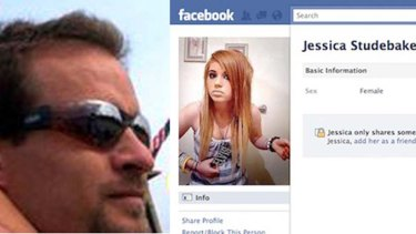 David Voelkert, left, and the bogus Facebook page set up by his ex-wife.