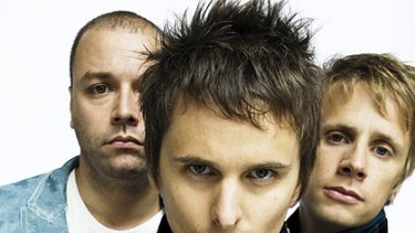 Muse and their chief songwriter, Matt Bellamy (front), who at the age of 18  expected he would hold court on a stadium stage.