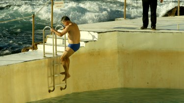 Exercising at Bondi Icebergs pool.