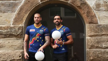 Lance Franklin and Adam Goodes are two of the superstars named in the Indigenous AFL team.