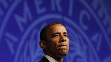 Rough road ahead ... U.S. President Barack Obama.