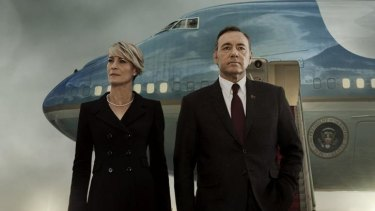<i>House of Cards</i> stars Robin Wright and Kevin Spacey as Claire and Frank Underwood.