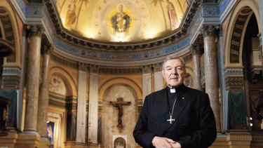Rome, sweet Rome … Cardinal George Pell in the chapel at Domus Australia – a $30-million guest house and place of worship for Australian Catholics in Rome.