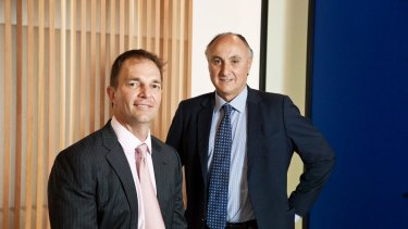 Anton Tagliaferro, right, and Hugh Giddy left of Investors Mutual urged the RBA to not race to the bottom in 2016.