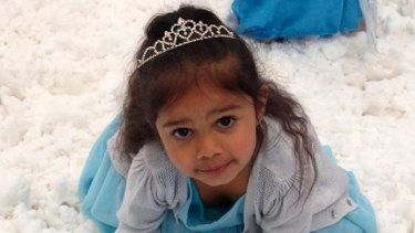 Samara Muir, 3, left in tears after being racially abused at a Melbourne shopping centre.