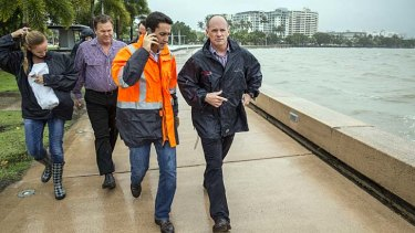 Ill winds: Campbell Newman in Cairns.