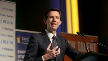Federal Education minister Simon Birmingham.