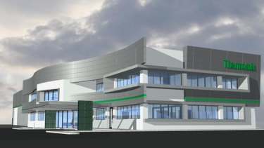 An artist's impression of the new Perth headquarters.