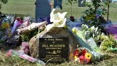 Gone, but not forgotten ... The memorial site for Jill Meagher marking the spot where her body was found.