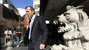 Tony Abbott in Chinatown, Sydney.