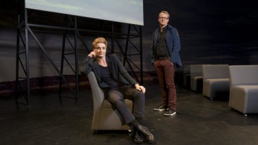 Chunk Move choreographer, dancer, and artistic director Anouk van Dijk and director Falk Richter.