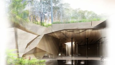 These designs for the underground cultural centre at Barangaroo have since been altered.