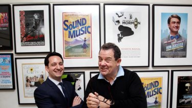 First Priscilla and now Annie: Theatre investor Jonathan Feder (left) and producer John Frost.