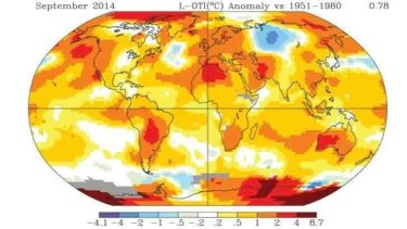 Record hot September - the latest in a series of very warm months.
