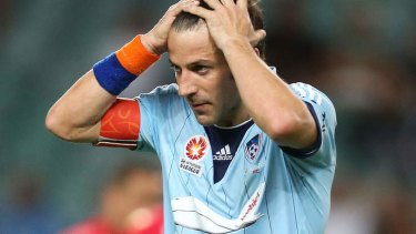 Same old story: Alessandro Del Piero reacts to another missed opportunity.