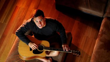 Brumbies flyhalf Matt Toomua takes some time out from rugby at his Manuka apartment.