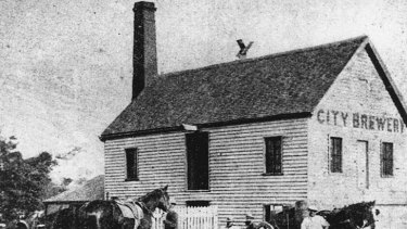 City Brewery owned by Perkins & Co., Brisbane, 1872-1882.