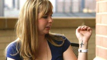 Cecilia Cichan has a plane tattooed on her wrist.