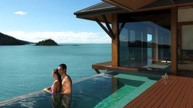 World's best ... plunge pool off one of the pavilion rooms at Qualia.