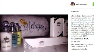 Salim Mehajer is set to launch a toiletries line.