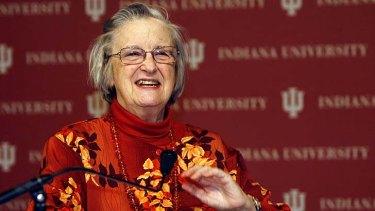 Model-buster: Elinor Ostrom celebrates winning the Nobel Prize in economics in 2009.