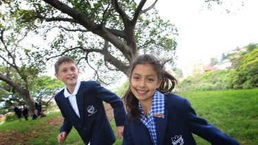 Lessons for life ... Bellevue Hill Public School students Daniel Maccullough and Elena Menacho Conn. Measures of early childhood development are important indicators to future skills.