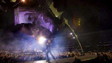 U2 play Mount Smart Stadium in Auckland last week.