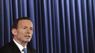 On the bright side ... Tony Abbott talked up the Australian economy in a visit to New York.