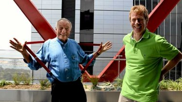 Architect Richard Rogers, left, with partner Ivan Harbour from Rogers Stirk Harbour + Partners.