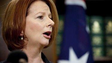Childless ... Prime Minister Julia Gillard.