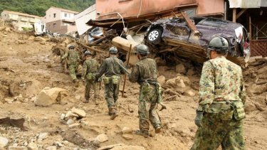 About 630 self-defence forces personnel have been sent to the area.