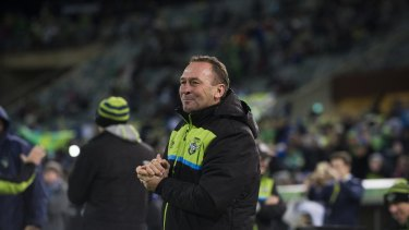 Raiders' coach Ricky Stuart..