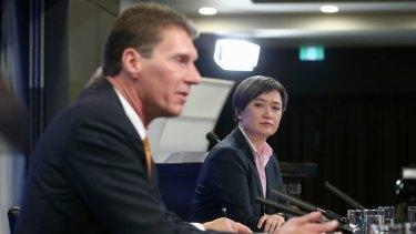 Senators Bernardi and Wong on Wednesday.