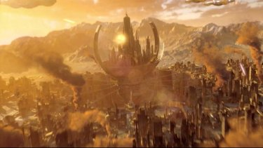 It's seen better days: Gallifrey, after the Daleks, as seen in the BBC's <i>Day of the Doctor</i>.
