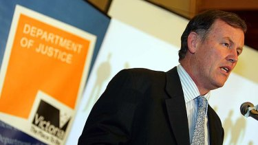 Former Victorian attorney-general Rob Hulls announces the state's charter of human rights.