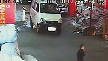 Disgraceful … two-year-old Yueyue was run over by a van and ignored by several drivers and pedestrians before cleaner Chen Xianmei took her off the road and called for help.