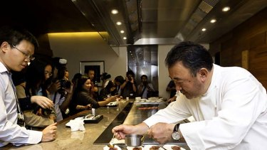 """Their passion for eating is incredible. It's a national sport"" ... Tetsuya Wakuda at Waku Ghin."