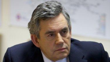 Hitting out ... Gordon Brown.