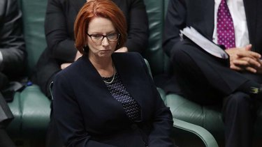 Personally negotiating amendments: Prime Minister Julia Gillard.