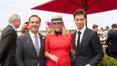 Andrew O'Keefe, Samantha Armytage and Sunrise executive producer Michael Pell.