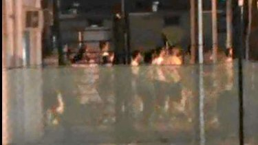 The riots at Manus Island on Sunday.