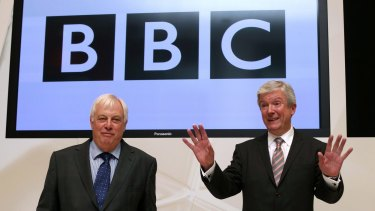 """What happened was profoundly wrong. It should never have happened, it should certainly have been stopped."" ... BBC Director-General Tony Hall, right, on child abuser Jimmy Savile."